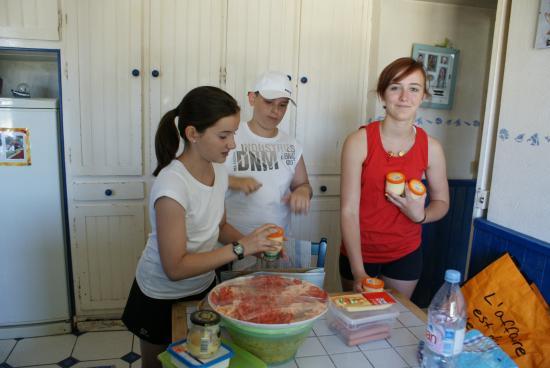 préparation du dejeuner