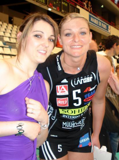 Anna RYBACZEWSKI capitaine équipe de France et Audrey