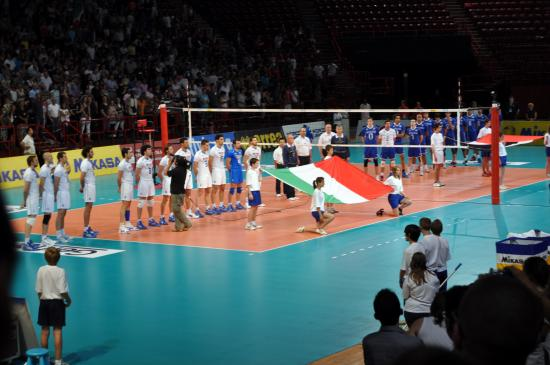 World ligue France/Italie Bercy 25/06/10