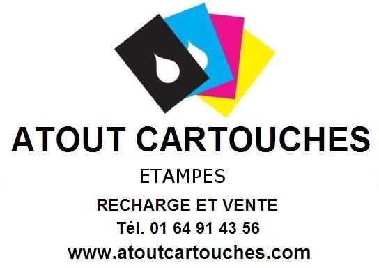 Logo atout cartouches recharge et vente etampes